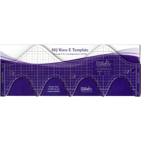 """Handi Quilter Ruler - HQ Wave E 6"""" et 3"""" (15,24 cm et 7,62 cm)"""