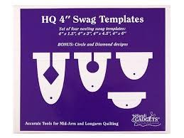 "Handi Quilter Ruler Set - 4"" Swags (10,16 cm)"