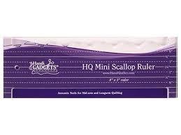 "Handi Quilter Ruler - HQ Mini Scallop 8"" x 3"""